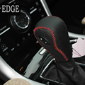 Caixa de engrenagem Coleiras para Ford Edge 3.5L Explorer Tampa do Deslocamento de Engrenagem Do Carro-styling DIY Do Câmbio Automático Genuíno Couro Preto