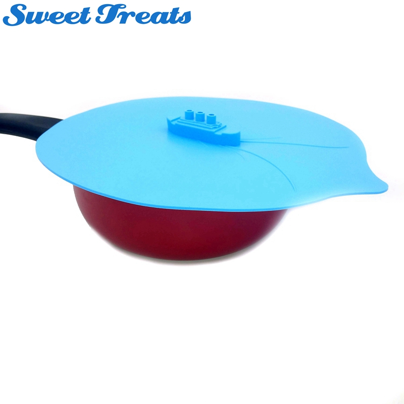 Sweettreats Steaming Lid Universal Silicone Pot Cover Pan Cooking Tool Pan Lid Boil Over Spill Stopper Cover Safe