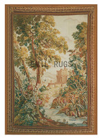 tapestry wall hangings New Time limited Gobelin Picture Pure Handmade Wool Palace Tapestry Wide (152cm) 5.1'x 7.1' Gc3tap17