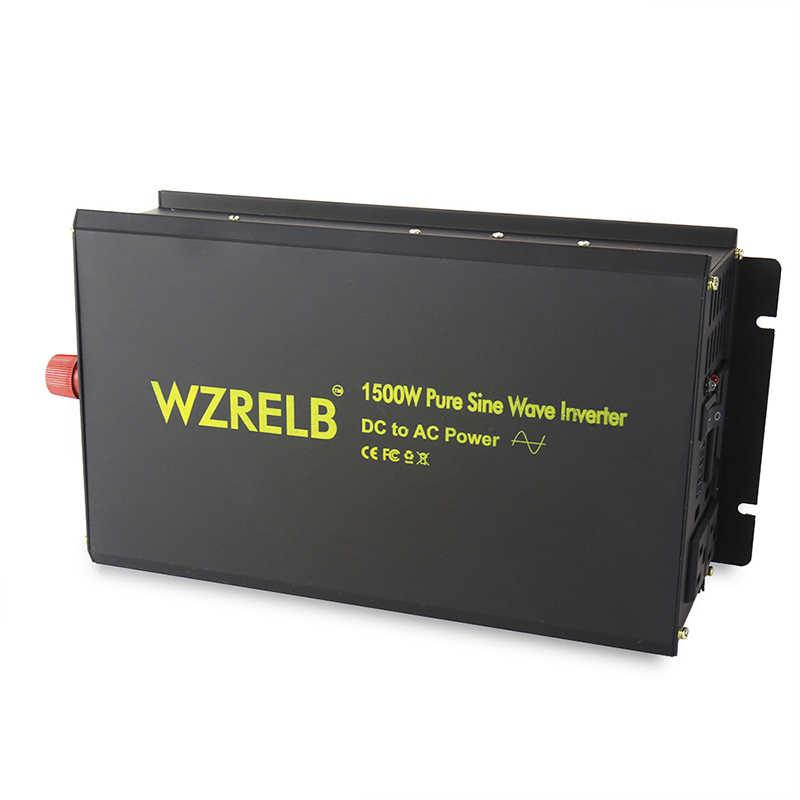 3000 W szczytowa 1500 W Off Grid czysta sinusoida Solar przetwornica 24 V 220 V samochodowa przetwornica napięcia baterii 12 V /48 V/72 V DC do 120 V/230 V/240 V AC