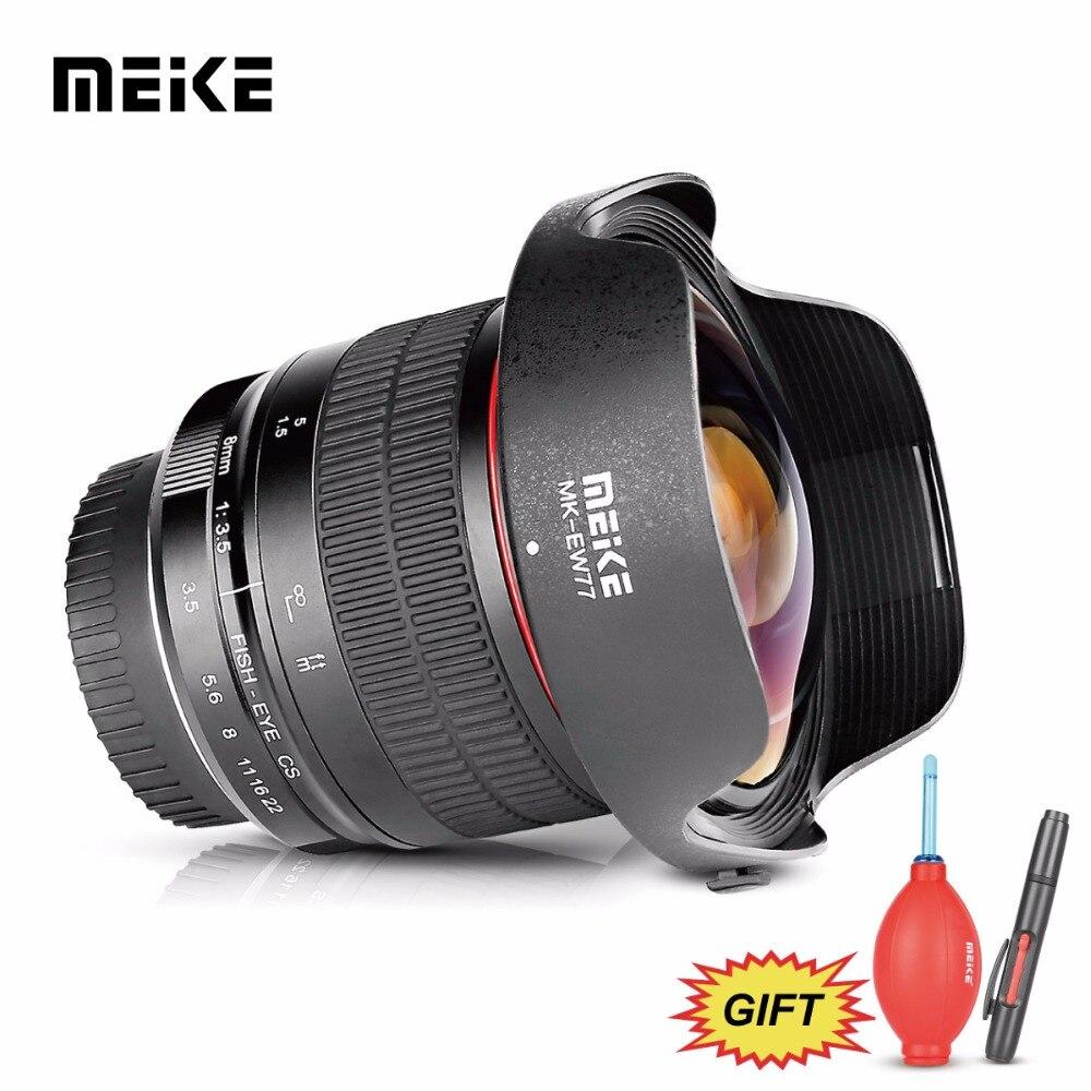 MEKE майке 8 мм f/3,5 Широкий формат рыбий глаз для Canon 5D 5DII 6D 7D 70D 80D 750D DSLR камеры с APS C/полный кадр + Бесплатный подарок