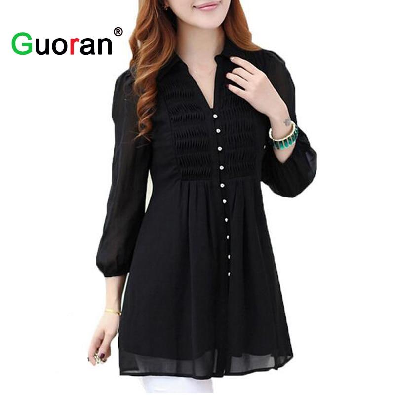 6XL Plus Size 2016 Spring Summer Women Casual Long Chiffon Blouses Loose Shirt Tops Ropa Mujer Camisas Blusas Femininas WCX622