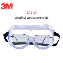 3 m Óculos de Segurança Anti Gog 1621AF Wearable Óculos de Leitura Lente  Clara Óculos de Laboratório Anti Poeira Splash UV óculo. 2f1b40b452