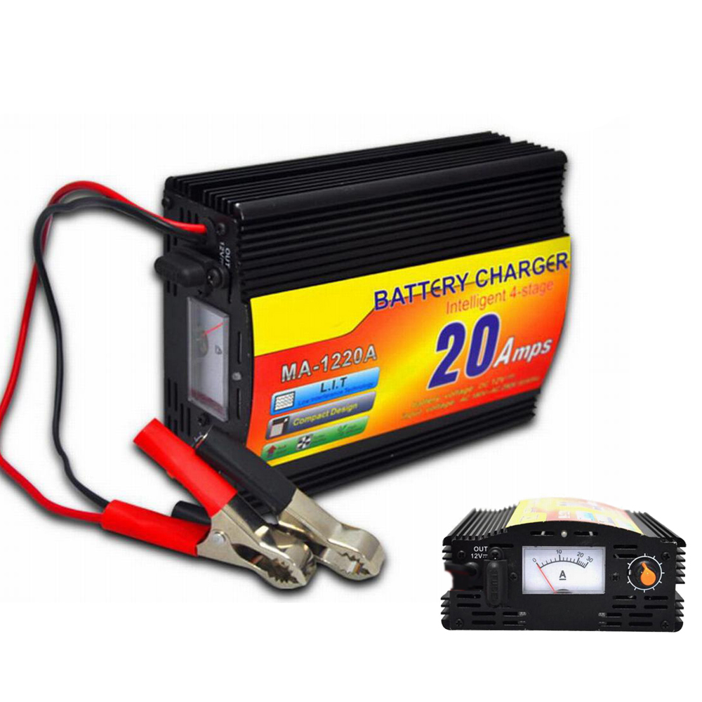 Batterie de voiture Chargeur Moto Chargeur 12 V 220 V Entrée 20Amp 3 Phase 12 V D'acide de Plomb intelligente Chargeur
