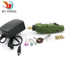 Mini taladro Eléctrico accesorios de Pulido Eléctrico qstexpress Set 12 V DC Herramienta Grinder para la Molienda de Pulido De Perforación Grabado