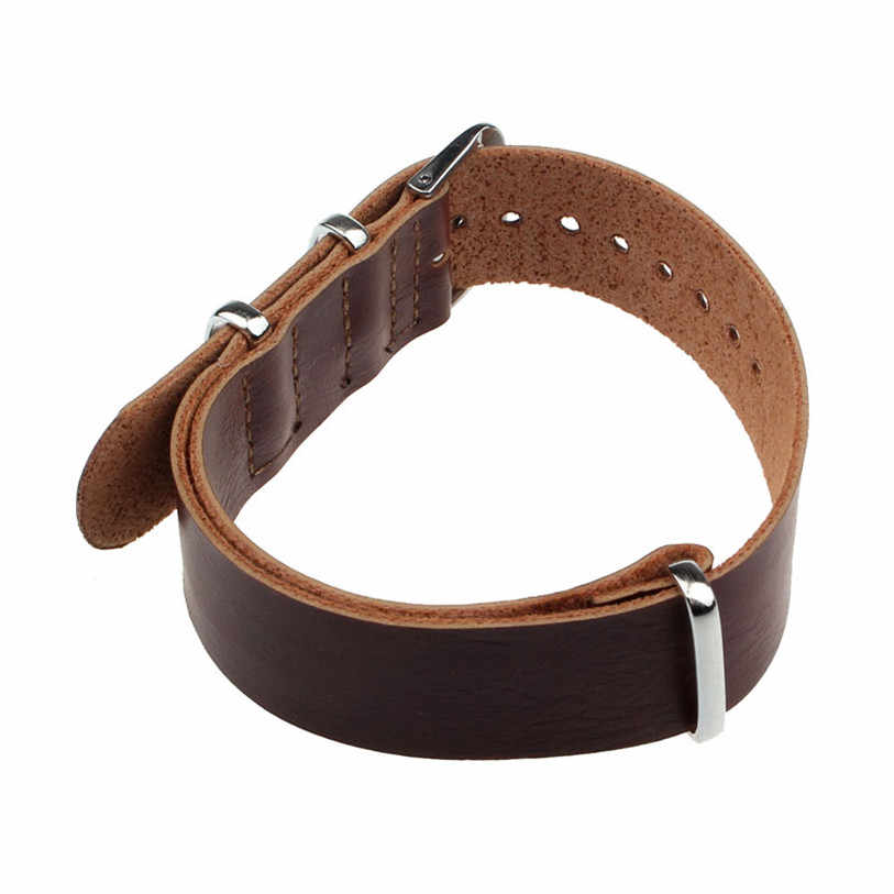 Moda Concise Cuoio DELL'UNITÀ di elaborazione superiore 20/22 cm Da Polso Watch Band Strap Pin Fibbia Mar22