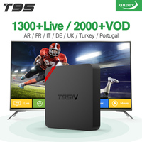 T95N Android 6 0 Smart TV Box 1100 1Year Free Iptv Subscription Europe Arabic Italy Amlogic