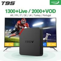 T95N Android 6 0 Smart TV Box 1100 1Year Free Iptv Subscription Europe Arabic Italy Amlogic
