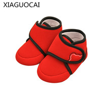 XiaGuoCai Newborn Baby Boy Girl First Walkers Toddler Shoes Cartoon Pattern Non Slip Lovely Soft Sole