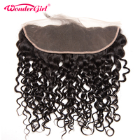 Wonder Girl Water Wave Frontal Brazilian Remy Hair Bundles 13x4 Lace Frontal Closure With Baby Hair