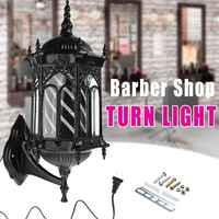 Lámpara de pared de barbería LED Retro salón de pelo luz de giro soporte portátil luces de adorno Bar Club Cafetería Restaurante