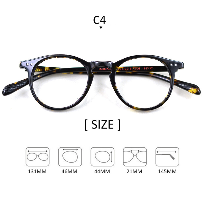 Hand Made Vintage Eyeglasses Men Women Compute Cat 39 s eye Optical Glasses Frames Acetate Brand Top Quality With Box FT2172015 in Men 39 s Eyewear Frames from Apparel Accessories