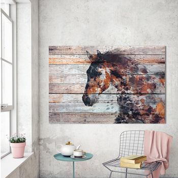HDARTISAN Wall Art Horse Painting Print on Canvas Animal Picture Home Decor for Living Room No Frame