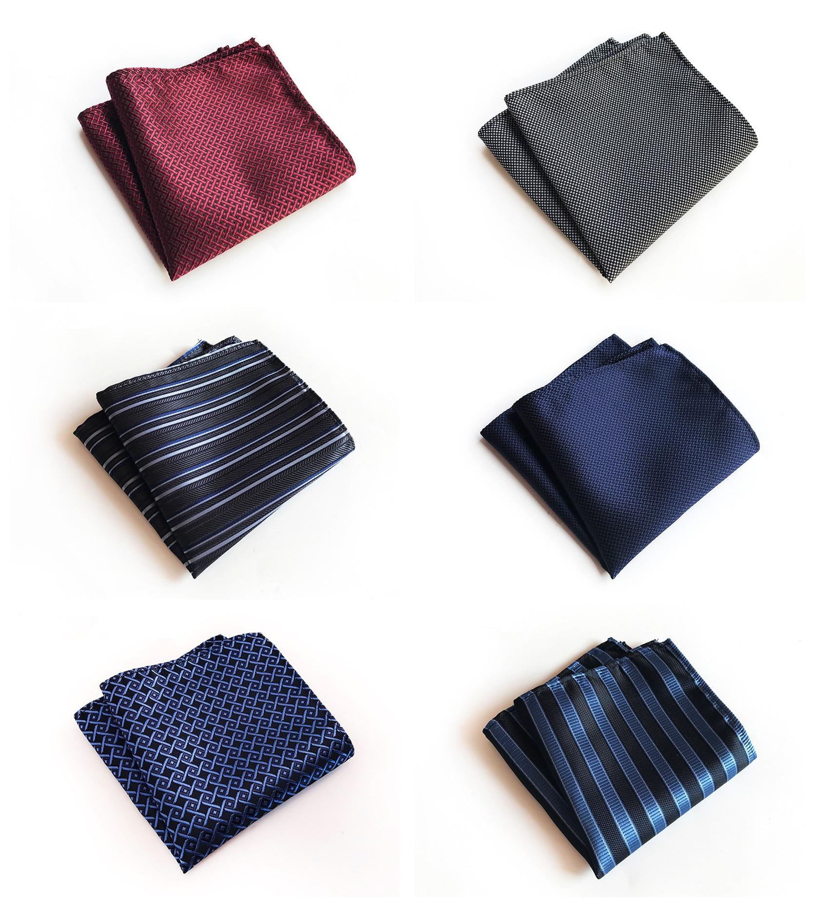 Retro Monochrome Business Dress High Quality Pocket Towel Unique Design Fashion Explosion Models 25x25cm Polyester Pocket Towel
