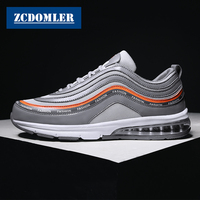 ZCDOMLER Top Quality Men Casual Shoes 2019 Mens White Sneakers Fashion Stripe Air Shoes Tenis Masculino Male Trainers Chaussures