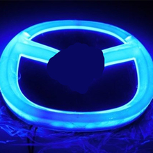 Night Lord for Mazda 4D logo lamp 4D led rear Emblems lighting for car LED light 4D led logo Sticker For Mazda badge Emblems led