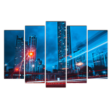 Abstract Canvas Painting Wall Art Oil Poster Wall Pictures 5 Panel Buildings city For Living Room Home Decor Frames Modular
