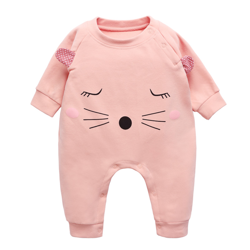 Baby Thick Rompers Boys Girls Long Jumpsuit Cotton Overall Clothing Autumn/Winter Warm Newborn Ropa Infant Cute OnePiece Clothes newborn infant baby girl boys cute rabbit bunny rompers jumpsuit long sleeve clothing outfits girls sunsuit clothes