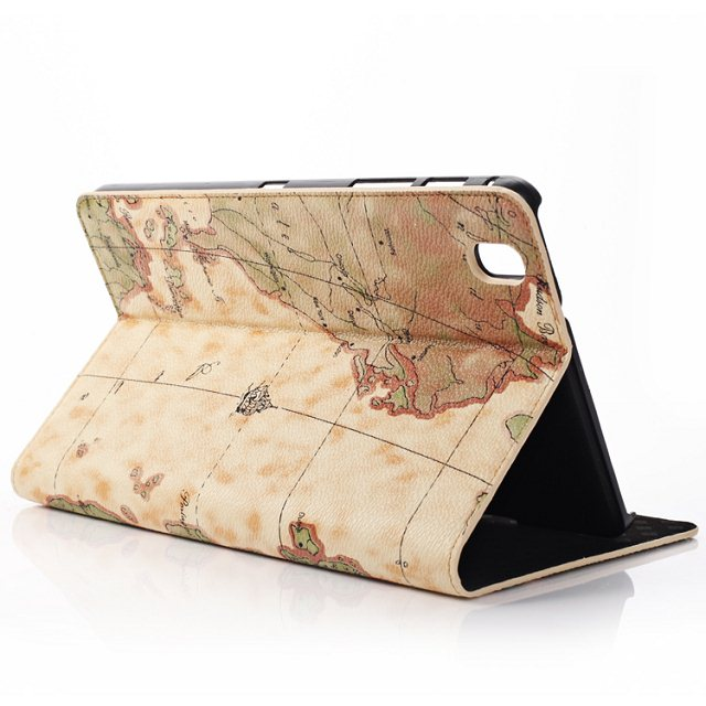 Retro World Map Holder Folio Stand PU Leather Cover Magnetic Closure Case For Samsung Galaxy Tab Pro 8.4 T320 T321 T325 Tablet folio magnetic stand pu leather cover