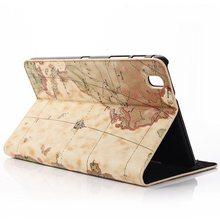Retro mundial mapa Holder Folio Stand funda de piel PU cubierta de cuero cierre magnético Case para Samsung Galaxy Tab 8.4 Pro T320 T321 T325 Tablet