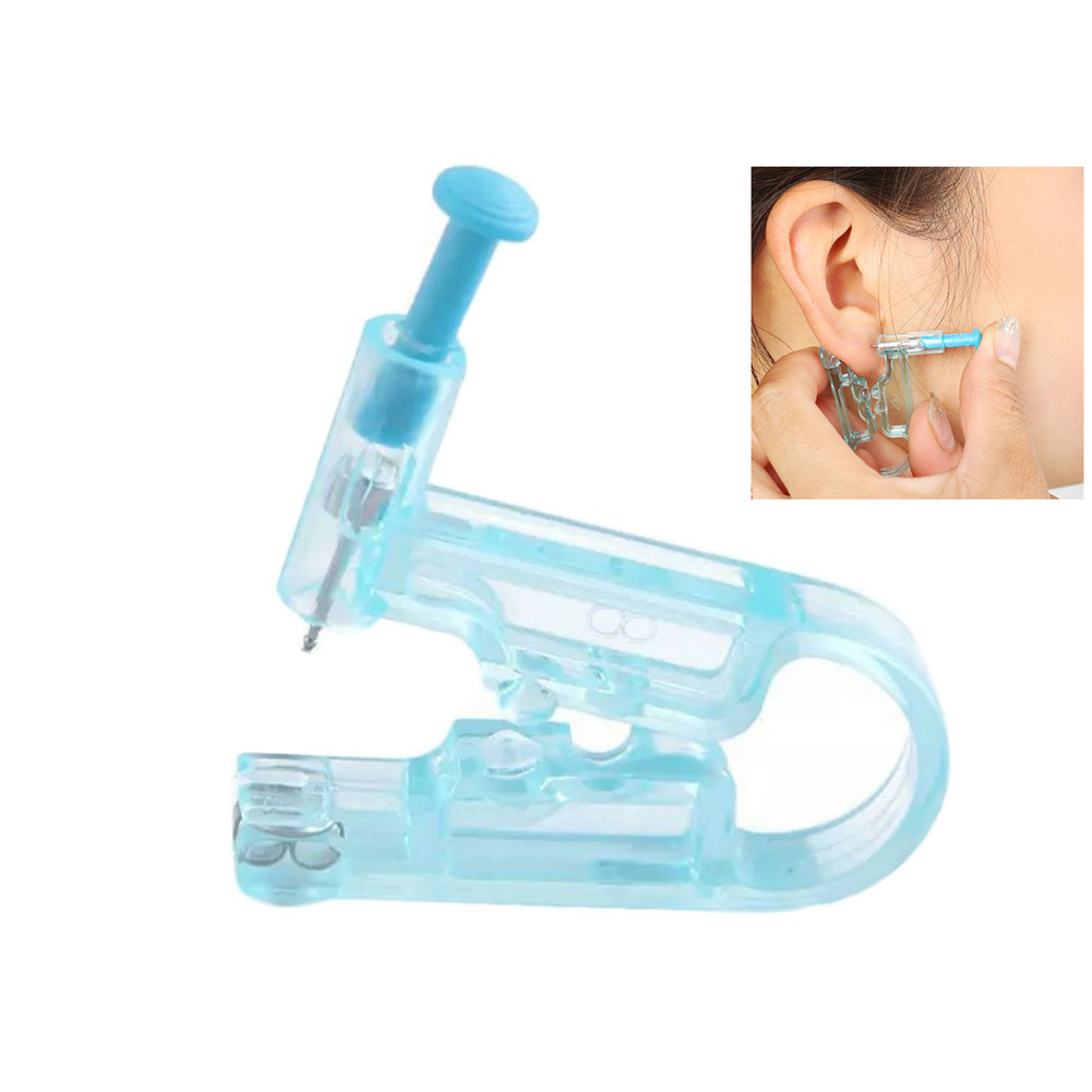Painless Professional Aseptic Disposable Manual Nose Safety Piercer Tool Body Ear Piercing  Navel