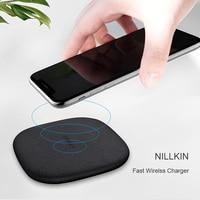 Nillkin powerchic 빠른 무선 충전기 아이폰 x 8 7 6 s 플러스 휴대용 qi 무선 충전 패드 삼성 s9 s8 플러스 참고 8