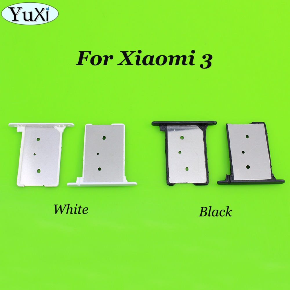 YuXi For Xiaomi Mi3 Sim Card Holder Tray Card Slot For Xiaomi Mi3 Mi 3 5.0 Inch Quad Core Cell Phone White Black Gold Silver