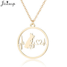 Jisensp Dainty Handmade Dog Animal Necklaces Pendants for Women and Men Cute Little Puppy Dogs Charm Necklace Party Jewelry(China)