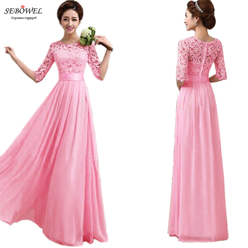 Women Chiffon Maxi Dress Formal Evening Party Prom Gown Bridesmaid Long Dresses