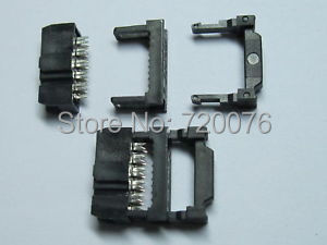 500 pcs Mini 2 Row 10pin IDC Cable Header Connector Pitch 2.54mm 3-piece 10 pcs idc fc pitch 2 0mm 34 pin cable female header socket connector 2x17 pin