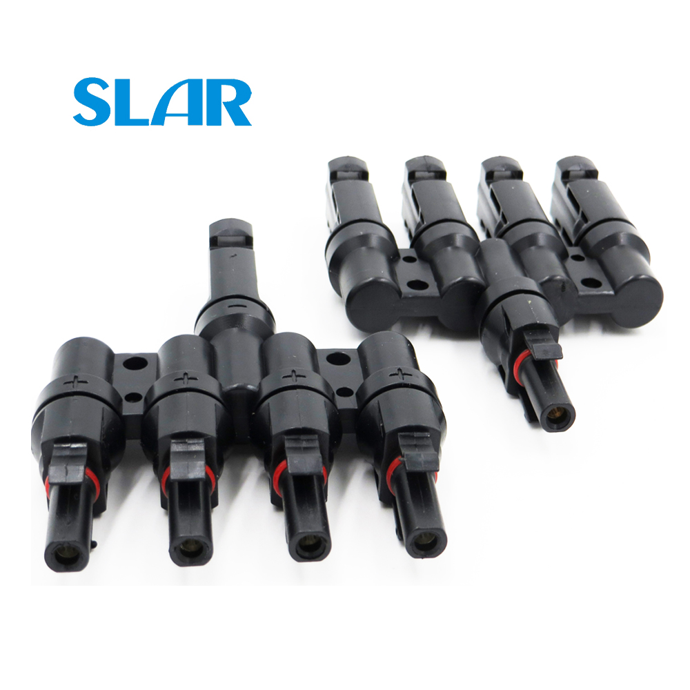 MC4 T 3T 4T 5T 6T Branch Parallel Connection 30A 50A 1000V Electrical Solar MC4 Connector Photovoltaic Panel Cable Wire Connect