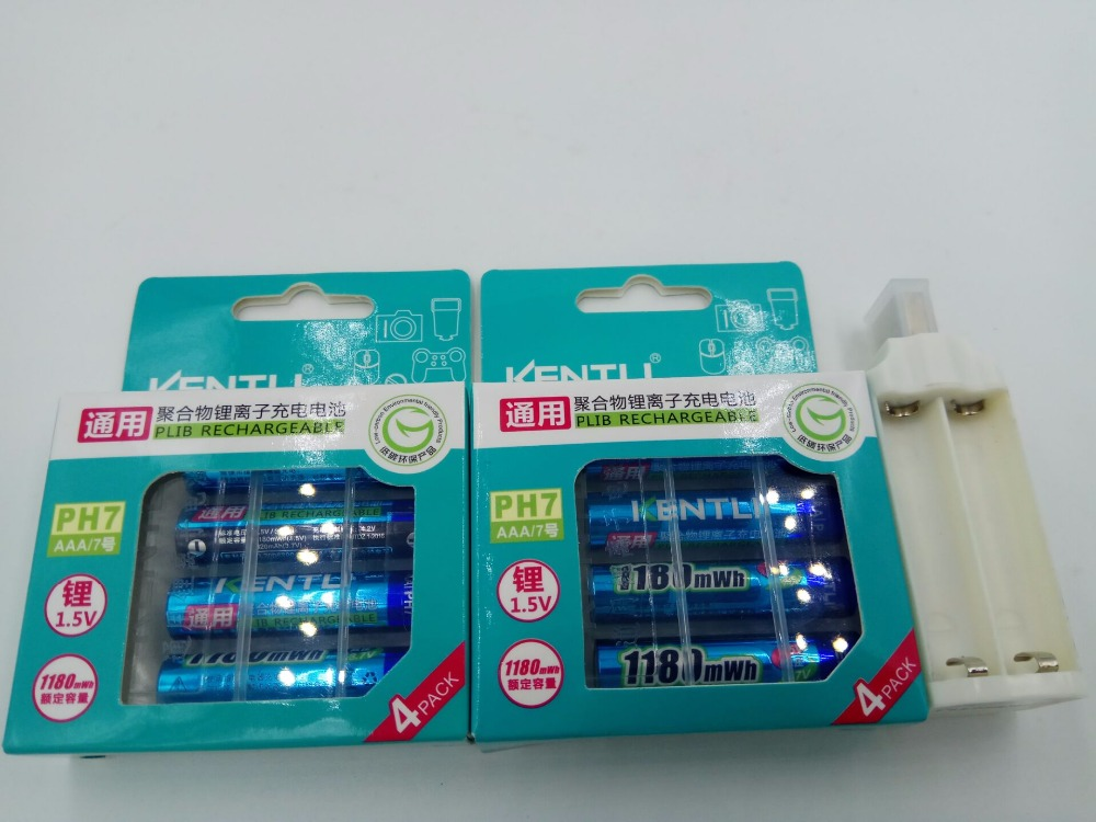 1.5v AAA Lifepo4 Li-ion KENTLI 8pcs 14505 Camera Batteries 1180mWh Rechargeable Lithium Battery +KENTLI USB AAA Battery Charger kentli ultra low self discharge 16 slot polymer li ion lithium batteries charger 16 pcs plib li ionaa aaa battery