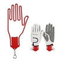 2 Pc Golf Glove Stretcher With Key Chain Plastic Glove Rack Dryer Golf Glove Hanger Holder Golf Accessory|Golf Gloves| |  -