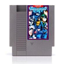 72Pin 8 бит карточная игра мега человек 6 в 1 с Megaman 1 2 3 4 5 6