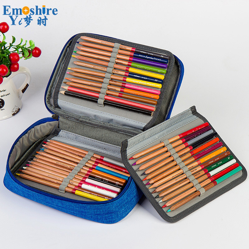 Brand Pen Holder New Oxford Pencil Case School Supplies Art Students Large Capacity Pencil Box Pencil Bag Stationery B260 kicute new 120 slots large capacity oxford canvas 4 layers school pencil case pencil bag art marker pen holder school supplies