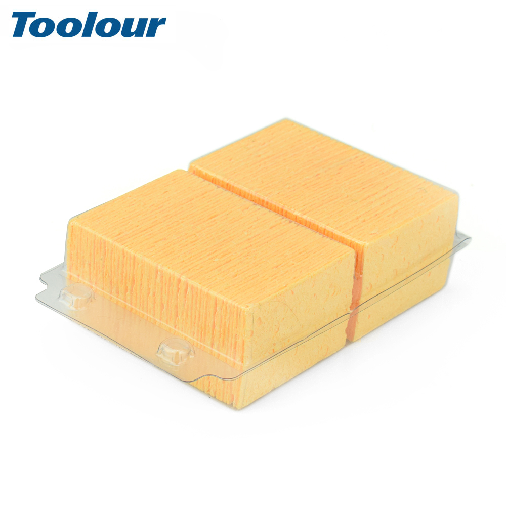 Toolour 100Pcs Welding Station Solder Soldering Iron Cleaning Sponge High Temperature Enduring Condense Welding Cleaning Tool