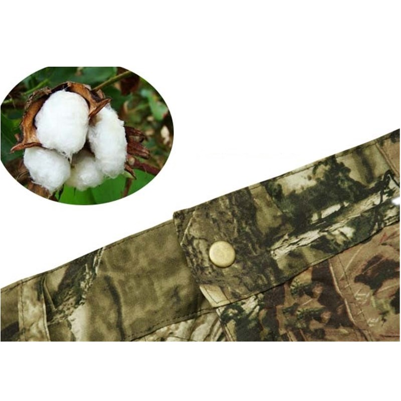 Summer Army Fan Loose Bionic Camouflage Shorts Men's Hunting Shorts Cotton Thin Breathable Casual Fishing Hiking Camping Shorts 2