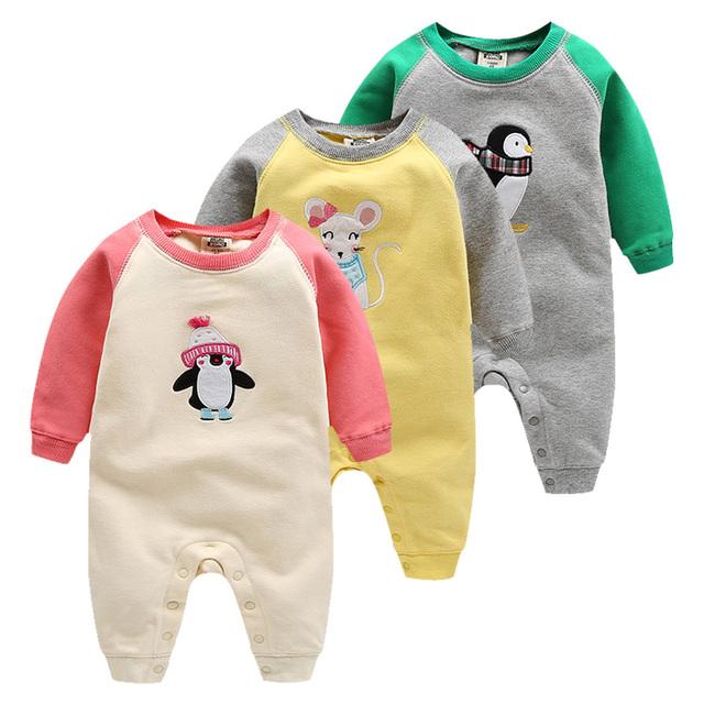2017 de alta calidad orangemom bebes desgaste de la muchacha 100% algodón ropa infantil 0-24 M Ropa de Bebé Mameluco Del Bebé bebé ropa de las muchachas