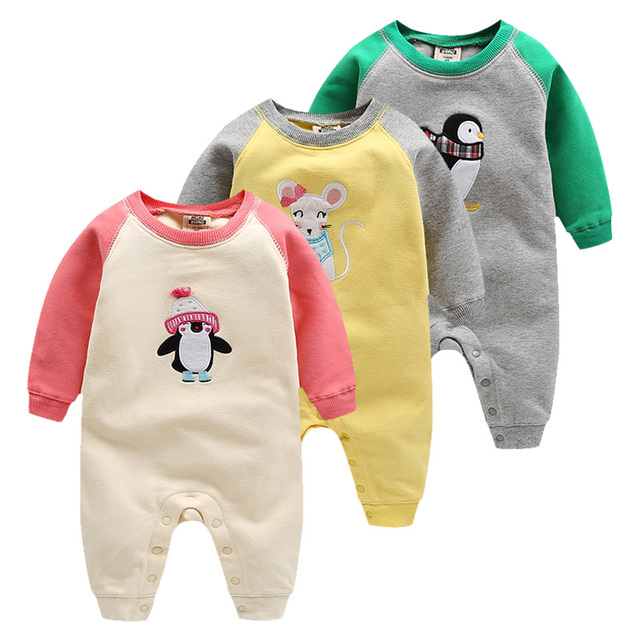 2017 de alta qualidade orangemom bebes desgaste da menina 100% algodão infantil roupas 0-24 M Roupas de Bebê Menino Romper Do Bebê meninas do bebê roupas