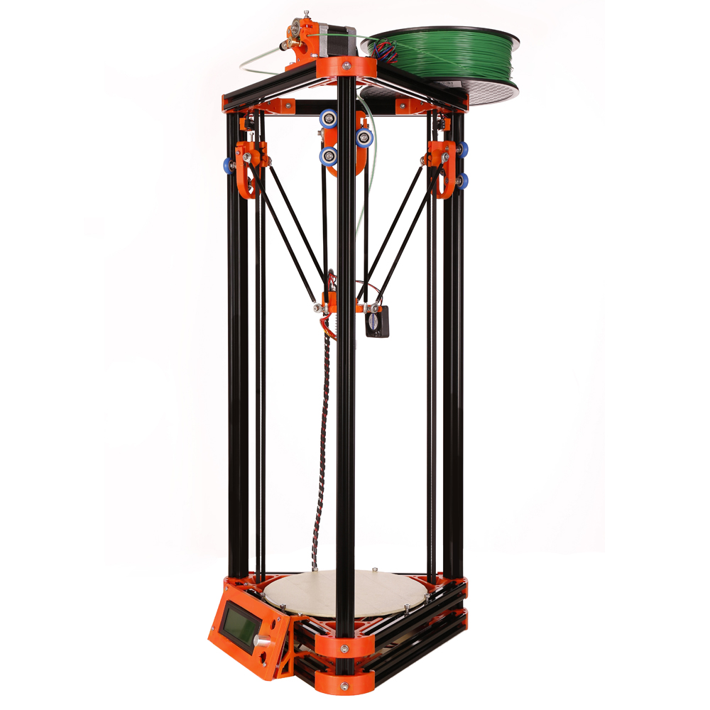 Delta Kossel Diy 3d printer kits with 40m filament masking tape 2GB SD card for Free