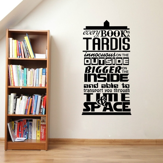 Doctor Who Inspired Quote Vinyl Wall Sticker   Part 31