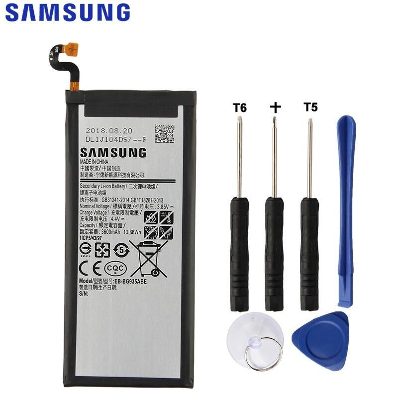 SAMSUNG Batterie De Rechange D'origine EB-BG935ABE Pour Samsung GALAXY S7 Bord SM-G935F G9350 G935FD Authentique Batterie 3600 mah