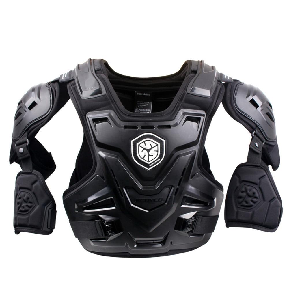 SCOYCO 2017 Moto Motocross Chest Back Protector Armour Racing Vest Protection De Corps Garde MX Armure ATV Gardes Course Noir