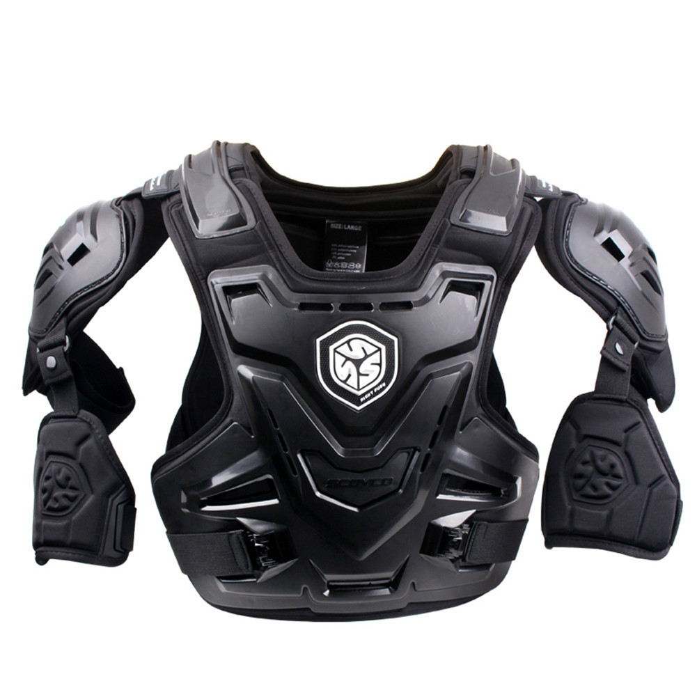 SCOYCO 2017 Moto Motocross Chest Back Protector Armour Racing Vest Protection De Corps Garde MX Armure ATV Gardes Course Noir