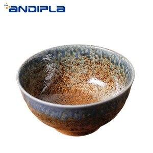 Винтажный набор фарфоровой керамической посуды в японском стиле, миска для салата, креативная домашняя посуда, миска для супа