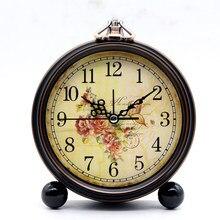c2075a7225c 4 polegada Retro Americano Relógio Despertador Silencioso Mudo Criativo  Quarto Home Office Desktop Clocks(China