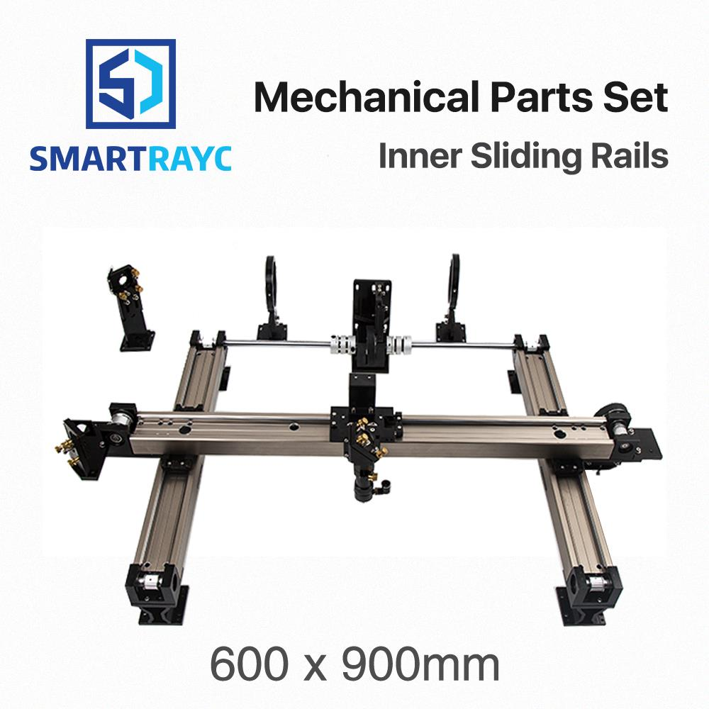 цена на Smartrayc Mechanical Parts Set 600*900mm Inner Sliding Rails Kits Spare Parts for DIY 6090 CO2 Laser Engraving Cutting Machine