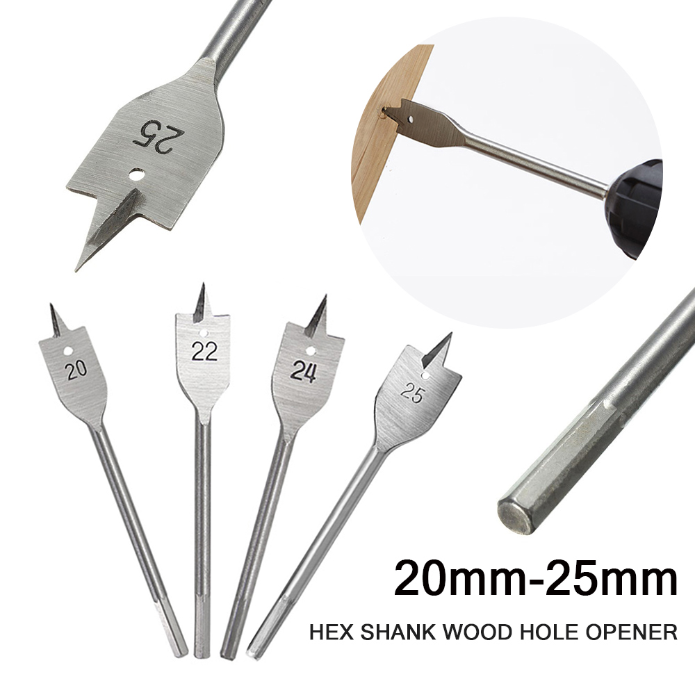 Machine Flat Wood Drill Bits - Sizes 6mm-25mm Spade Bit Wallated High Quality 2019 New