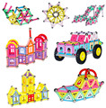 360pcs Magnetic rod children's educational toys children ever assembled magnetic blocks creative plastic toy castle in Russia