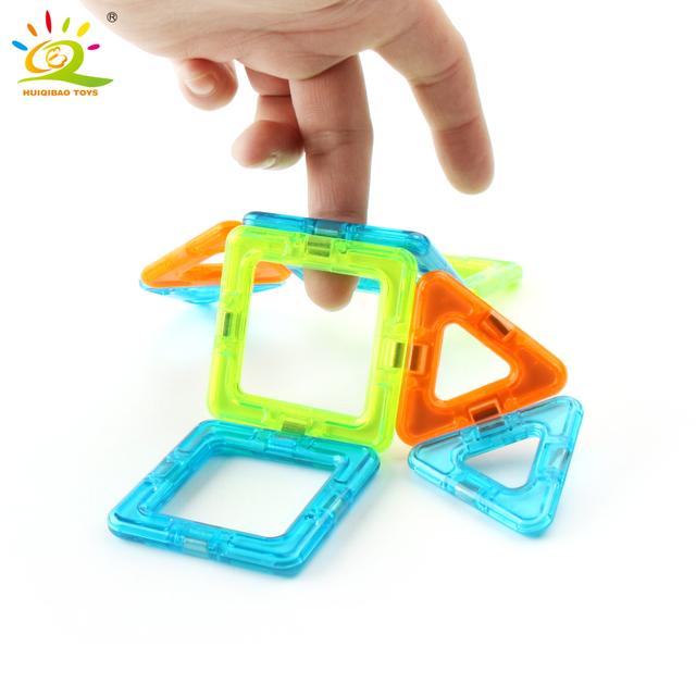 40pcs Mini Magnetic Car Designer Building Block DIY 3D Plastic constructor magnet Bricks Educational Toys For Children kids gift
